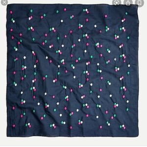 Jcrew square bandana with embroidered dots AO514